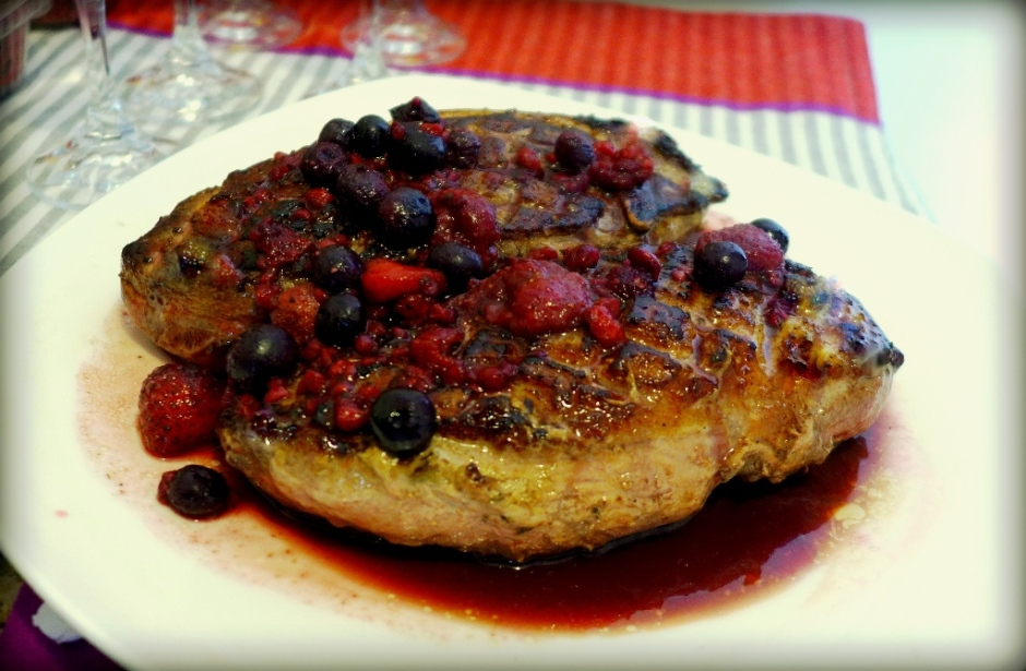 Magret de Pato en salsa de Anís y Berries