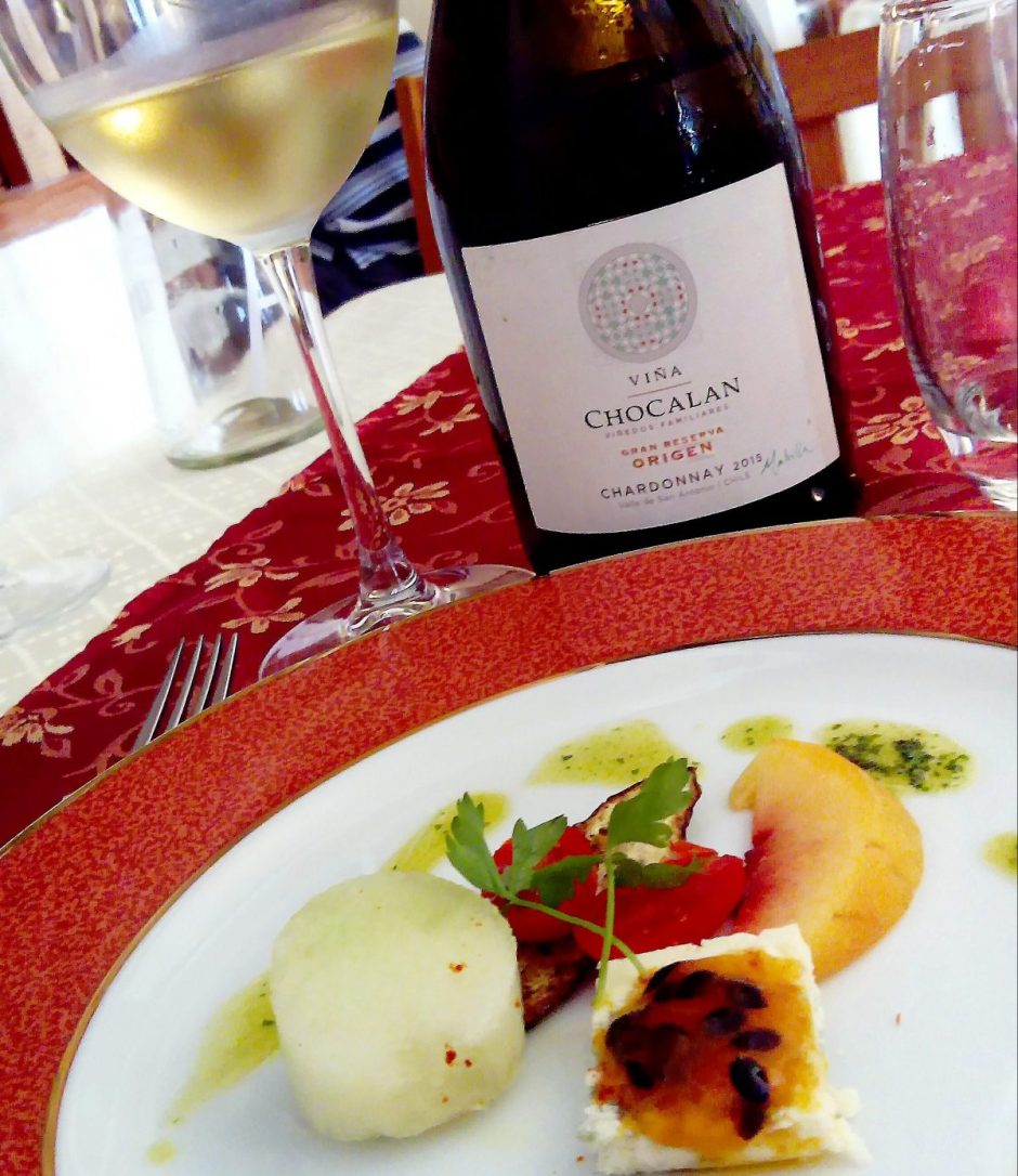 appetizer casa luisa . Chardonnay Malvilla Chocalann