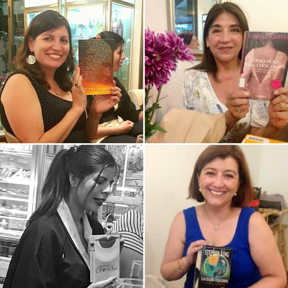 Letras y Vinos 4 . Javiera Emet, Erika, Paula Martinez, Carla Tapia