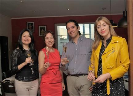 Akemi Nagaona, Carla Urrunaga, Leonardo Aguilar, Rocío Marchant