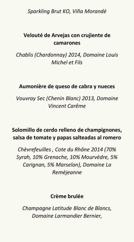 menu cena francesa 14 oct
