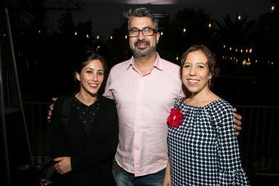 Consuelo Goeppinger, Darío Córdova y Carla Urrunaga