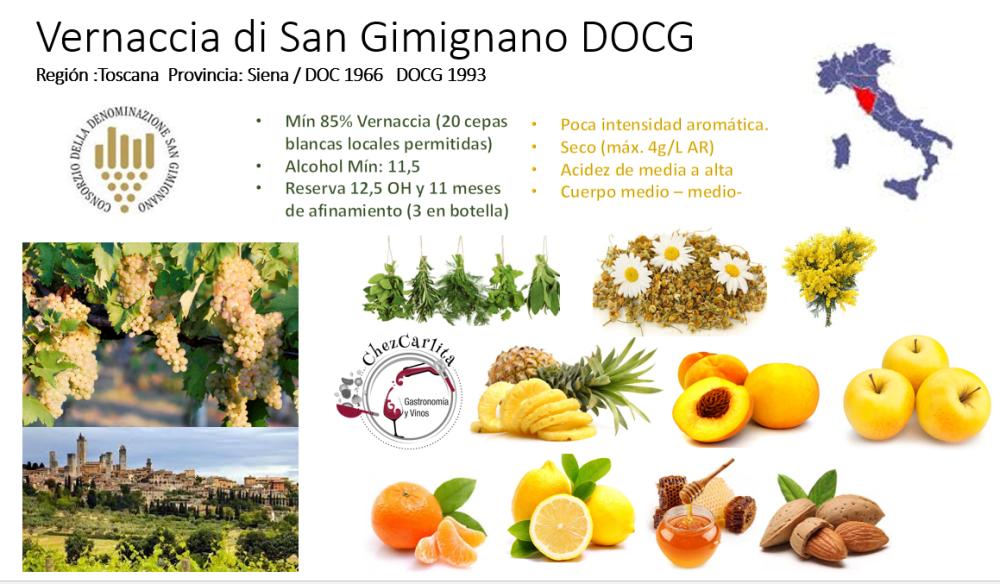 Vernaccia di San Gimignano . copyrigt CHEZCARLITA